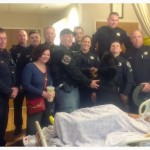 Deputies visit Cpl. Gist at the hospital. Source: Facebook/Berkeley County Sheriff's Office